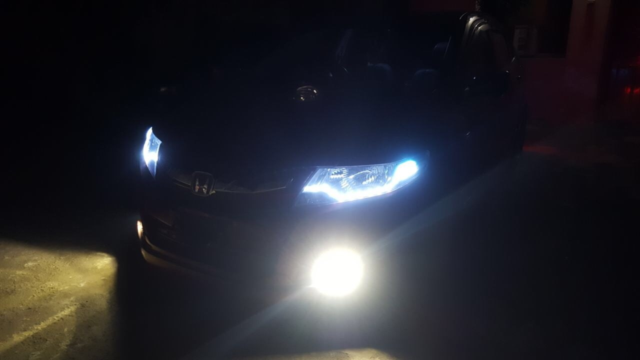 Honda City with LED front View