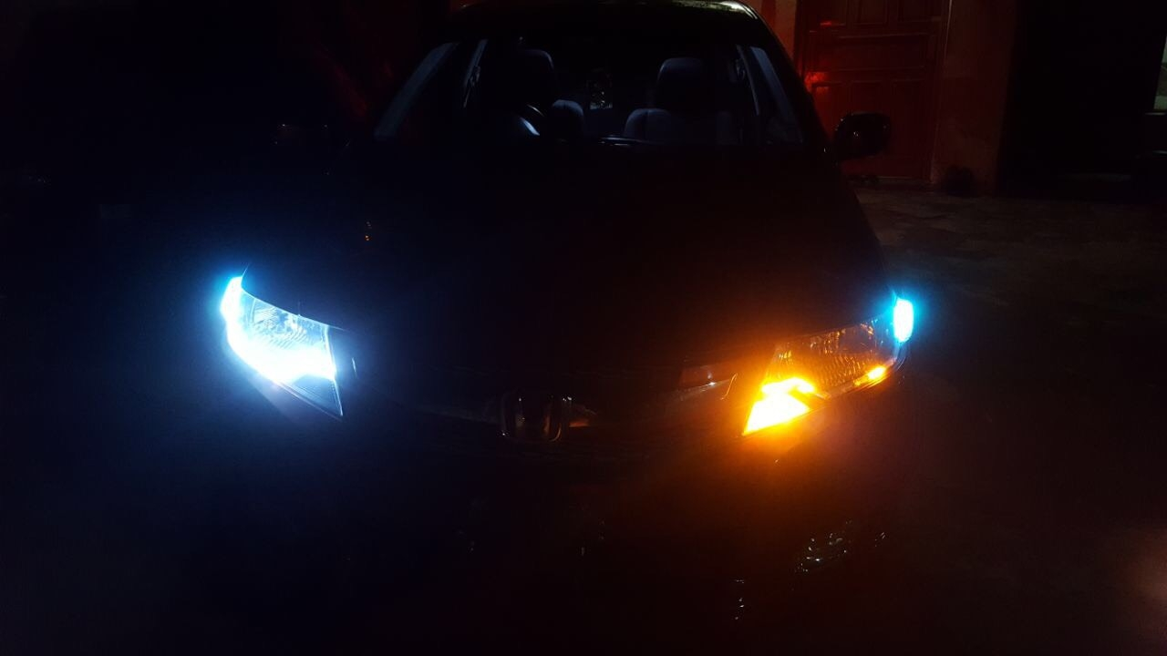 Honda City Front View with blue LEDs 3