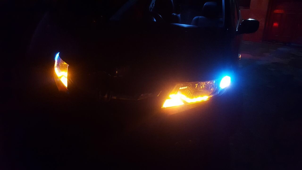 Honda City Front View with blue LEDs