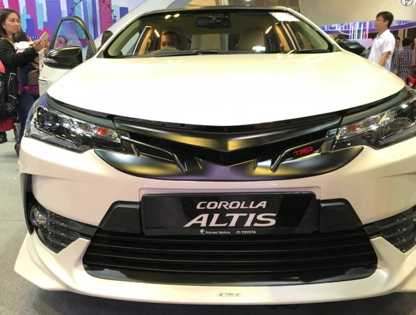 Toyota Altis TRD Sportivo 2018 in Singapore Front View