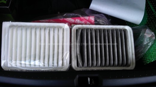 New and Old Toyota Vios Engine Air Filter